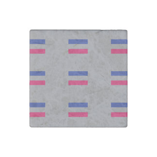 ANDROGYNOUS PRIDE PATTERN STONE MAGNET