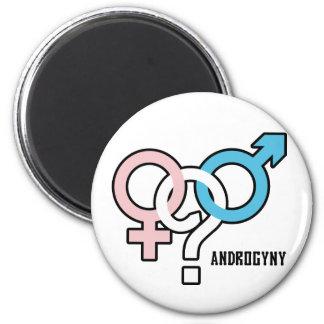 Androgyny 2 Inch Round Magnet