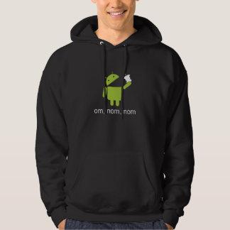 android > apple (dark hoodie) hoodie