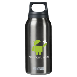 android > apple (dark water bottle) insulated water bottle