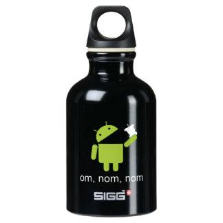 android > apple (dark water bottle) water bottle