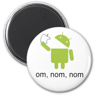 android > apple (round magnet) magnet