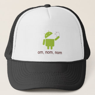 android > apple (trucker hat) trucker hat