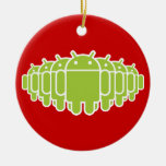 Android Army Double-Sided Ceramic Round Christmas Ornament