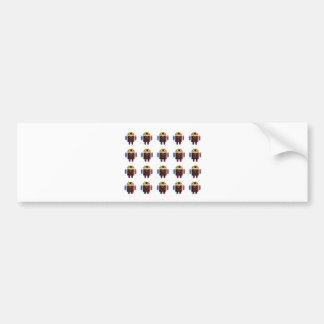 ANDROID Army - Happy Birthday Script n Blanks Car Bumper Sticker