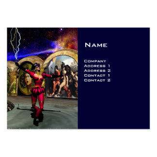 ANDROID BALLET , Blue Science Fiction Large Business Card