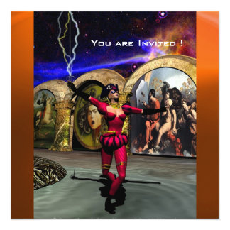 ANDROID BALLET,Red Orange Blue Science Fiction Card