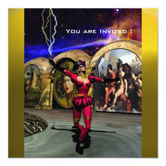 ANDROID BALLET,Red Yellow Blue Science Fiction Card