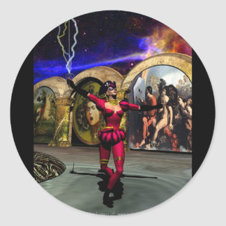 ANDROID BALLET ROUND STICKERS