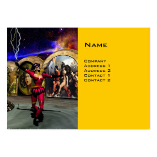 ANDROID BALLET , Yellow Science Fiction Large Business Card