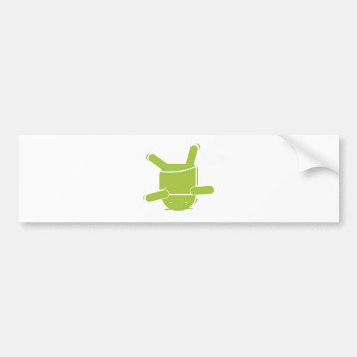 Android break dance car bumper sticker