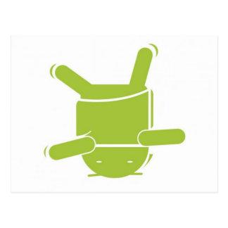 Android break dance postcard
