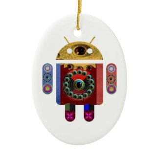ANDROID by Navin Joshi Christmas Tree Ornaments