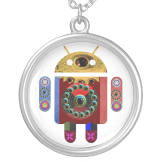 ANDROID by Navin Joshi Round Pendant Necklace