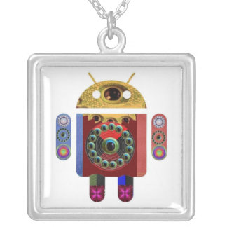 ANDROID by Navin Joshi Square Pendant Necklace