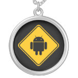 Android Crossing Sign Necklace