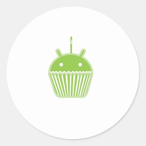 Android Cupcake Round Sticker