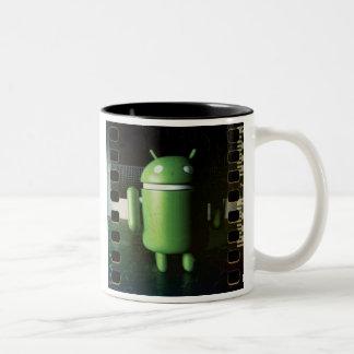 Android Distressed mug Two-Tone Mug