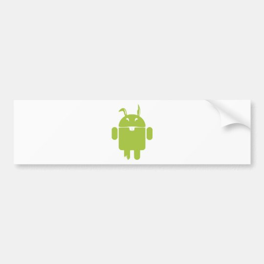 Android Easter bunny Bumper Sticker