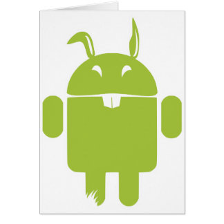 Android Easter bunny Card