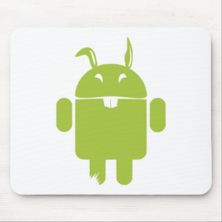 Android Easter bunny Mouse Pads