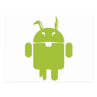 Android Easter bunny Postcard