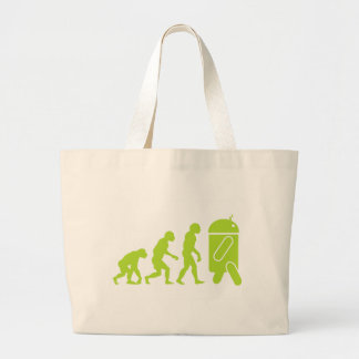 Android Evolution Large Tote Bag