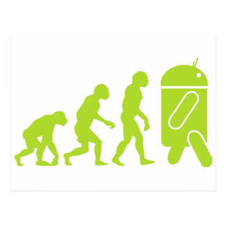 Android Evolution Postcard