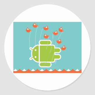 Android Fail Whale Classic Round Sticker