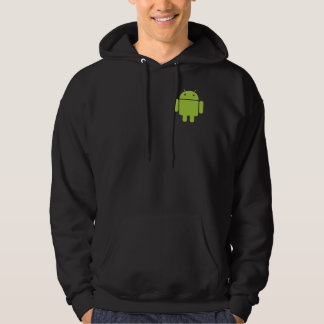 Android Front/Back Black Hoodie