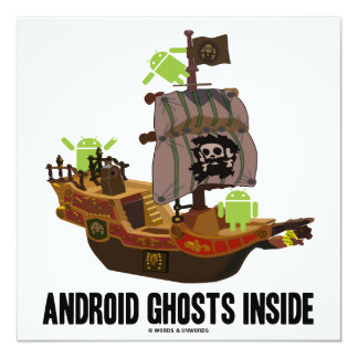 Android Ghosts Inside (Software Developer Humor) Card