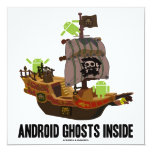 Android Ghosts Inside (Software Developer Humor) Custom Announcement