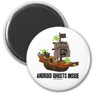 Android Ghosts Inside (Software Developer Humor) 2 Inch Round Magnet