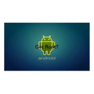 Android Got Root Double-Sided Standard Business Cards (Pack Of 100)