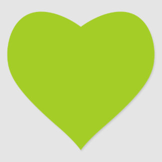 Android Green Color Decor Ready to Customize Heart Sticker