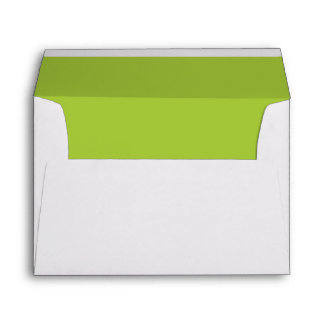 Android Green Color Lined Envelope