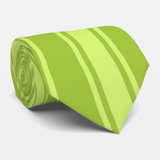 Android green Color Stripe Funky Pattern Tie