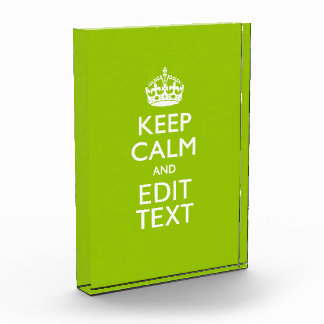 Android Green Decor Keep Calm And Your Text Award