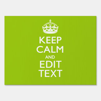 Android Green Decor Keep Calm And Your Text Sign