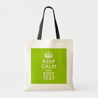 Android Green Keep Calm And Your Text Bags