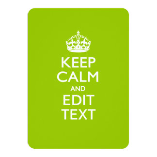 Android Green Keep Calm And Your Text Card