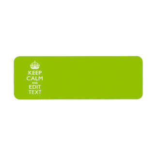Android Green Keep Calm And Your Text Return Address Labels