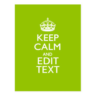Android Green Keep Calm And Your Text Postcard