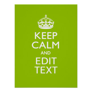 Android Green Keep Calm And Your Text Poster