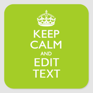 Android Green Keep Calm And Your Text Stickers