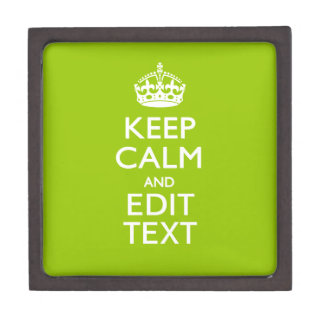 Android Green Keep Calm Have Your Text Jewelry Box