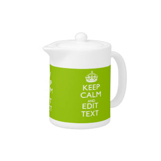 Android Green Keep Calm Have Your Text Teapot
