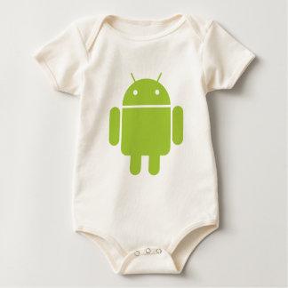 Android Green Robot Logo Bodysuit