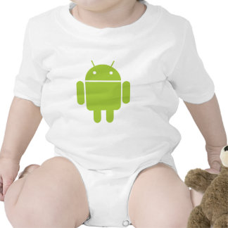Android Green Robot Logo Baby Bodysuits