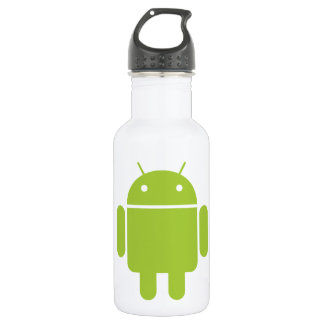 Android Green Robot Logo Water Bottle